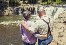 Senior Couple on vacation together Royalty Free Stock Photo