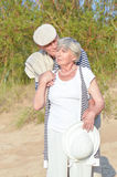 Senior couple at vacation Stock Images