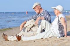 Senior couple at vacation Stock Image