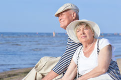 Senior couple at vacation Royalty Free Stock Image