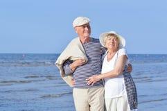 Senior couple at vacation Stock Photos