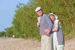 Senior couple on vacation Royalty Free Stock Photography