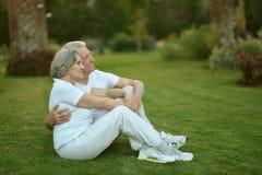 Senior couple on vacations Stock Photos
