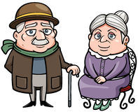 Senior couple. Vector illustration of Senior couple Royalty Free Stock Photos