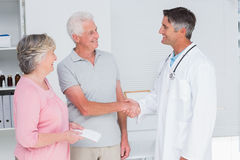 Senior couple visiting doctor Royalty Free Stock Photo