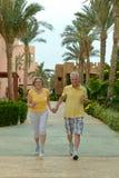 Senior couple waking Stock Photography