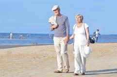 Senior couple on walk Royalty Free Stock Images