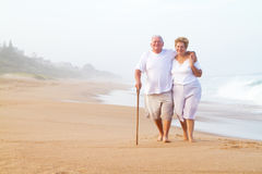 Senior couple walking Stock Images