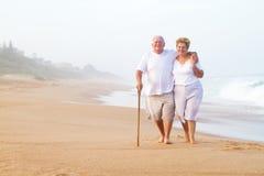 Senior couple walking Stock Images