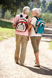Senior couple walking in country Stock Images