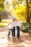 Senior couple walking Royalty Free Stock Images
