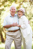 Senior Couple Walking In Park Stock Image