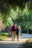Senior couple walking in the park Royalty Free Stock Photography