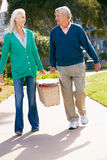 Senior Couple Walking In Park Together Royalty Free Stock Photo