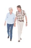 Senior couple walking together Royalty Free Stock Photo