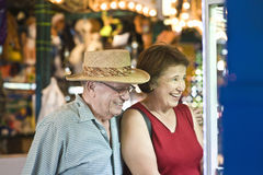 Senior Couple Watching Window Display Stock Photos