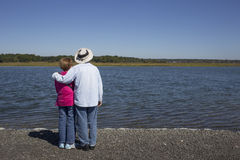 Senior couple at the water Royalty Free Stock Photography