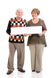 Senior couple white board Stock Images