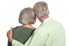 Senior couple on white Stock Image