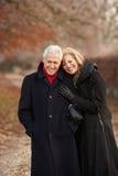 Senior Couple On Winter Walk Stock Image