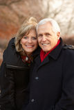 Senior Couple On Winter Walk Stock Image
