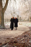 Senior Couple On Winter Walk Stock Photography