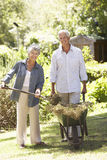 Senior Couple Working In Garden At Home Royalty Free Stock Photo