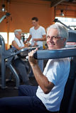 Senior couple working out Stock Image