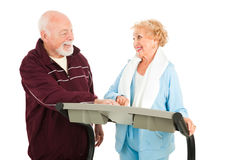 Senior Couple Works Out Royalty Free Stock Images