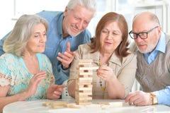 Senior couples having fun Stock Image