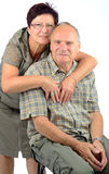 Senior couples together Stock Image