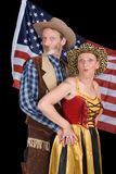 Senior cowboy couple Royalty Free Stock Photo