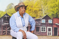 Senior Cowgirl Stock Photography