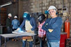 Senior craftsman or artisan Stock Images