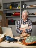 Senior craftsman Royalty Free Stock Image