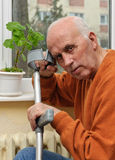 Single old male patient Stock Photos