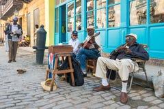 Senior cuban men playing traditional music in Havana Royalty Free Stock Image