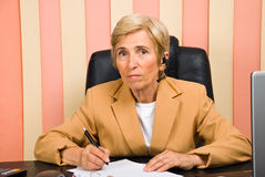 Senior customer service Stock Images