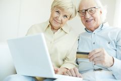 Senior customers Stock Photos