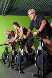 Senior cycling group Stock Photography