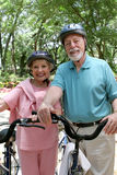 Senior Cycling Safety Royalty Free Stock Photography