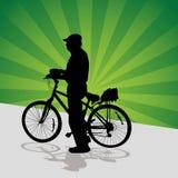 Senior Cyclist Stock Photo