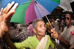Senior dancer joyfully  in Ordination parade. Stock Photos