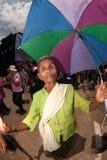 Senior dancer joyfully  in Ordination parade. Stock Image