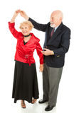 Senior Dancing - Twirl Stock Photo