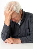 Senior depression royalty free stock image