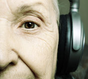 Senior DJ Royalty Free Stock Photo