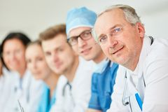Senior doctor with experience stock images