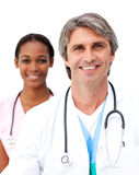 Senior doctor with his colleague Royalty Free Stock Images