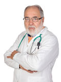 Senior doctor with hoary hair Stock Images